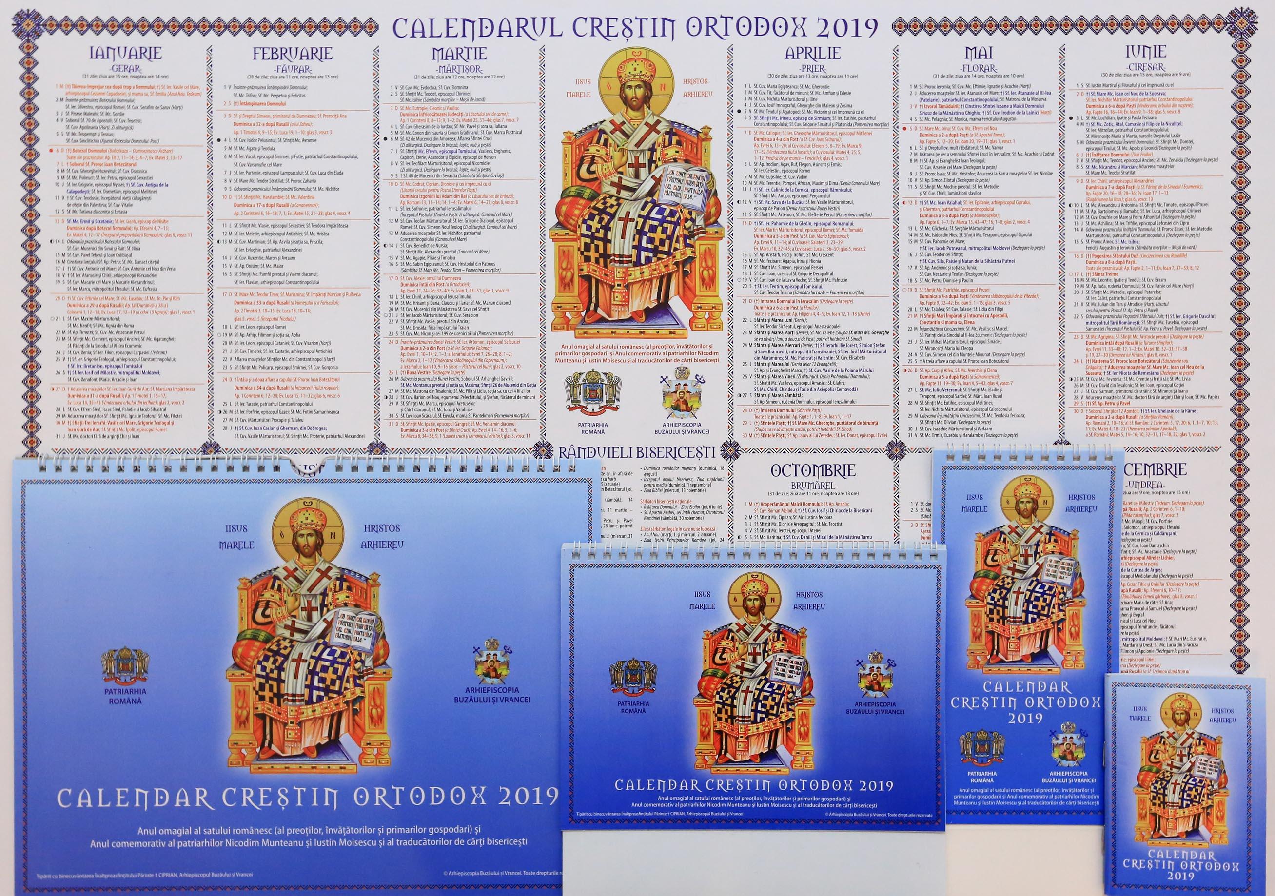 Calendar Greco Catolic 2019 - Calendar 2020 românesc ...  |Calendar Ortodox August 2020